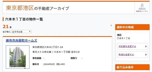 ライフルホームズに掲載されている東京都港区の物件一覧