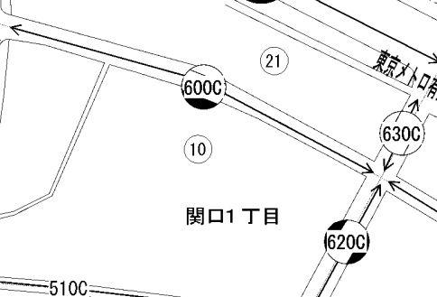 路線価図(道路沿い)