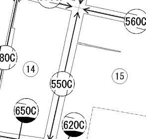 路線価図の黒塗り・斜線