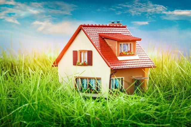 キレイに塗装された家