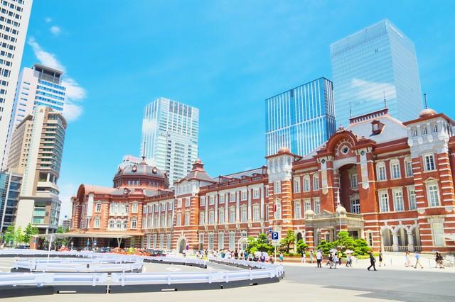 レンガ造りの東京駅