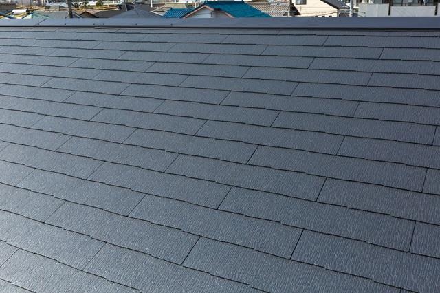 葺き替え工事後のスレート屋根