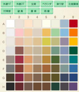 小林塗装の色種類